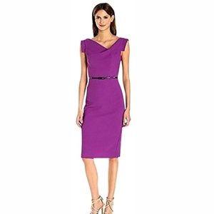 Black Halo Purple Jackie O Work/Office Dress